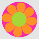 Flower power pegatina