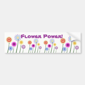 Flower power, pegatina para el parachoques colorid etiqueta de parachoque