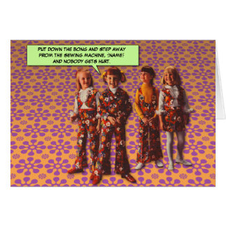 Flower Power [personalized greeting card] Card