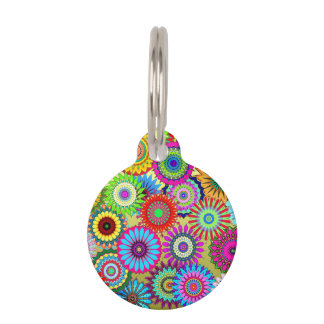 Flower Power Pet Tag