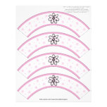 Flower Power Pink Number or Initial Cupcake Cosies Customized Letterhead