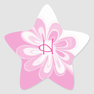 Flower Power- Pink Star Sticker