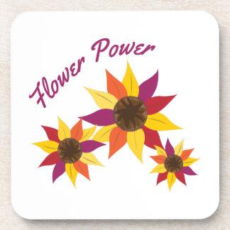 Flower power posavasos de bebida