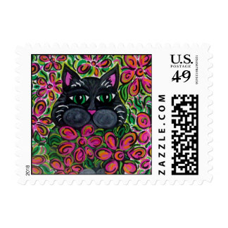 Flower Power Postage Stamps