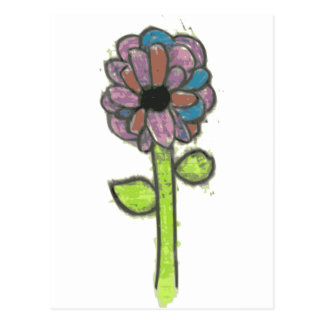 Flower Power Postcard