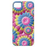 Flower power psicodélico del hippy iPhone 5 cárcasas