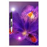 Flower power púrpura pizarras blancas
