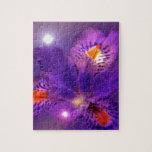 Flower power púrpura rompecabezas