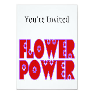 Flower Power Red & Pink Card