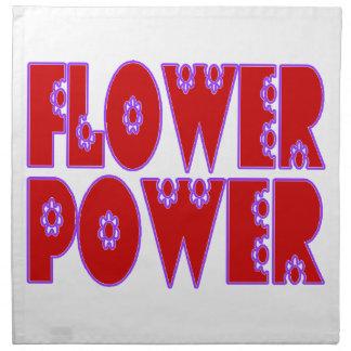 Flower Power Red & Pink Cloth Napkin