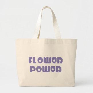 Flower power retro bolsa lienzo