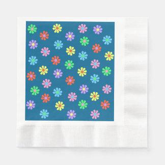 flower power retro de los años 60 servilletas desechables