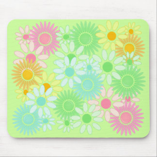 Flower power retro del mousepad del estilo de la m