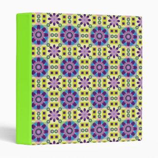 flower power retro design notebook binder