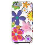 Flower Power Retro Floral Vector Tough iPhone 6 Case