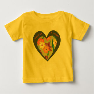 Flower Power retro heart for the new generation Baby T-Shirt