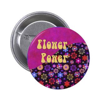 Flower power retro maravilloso 60s 70s pins