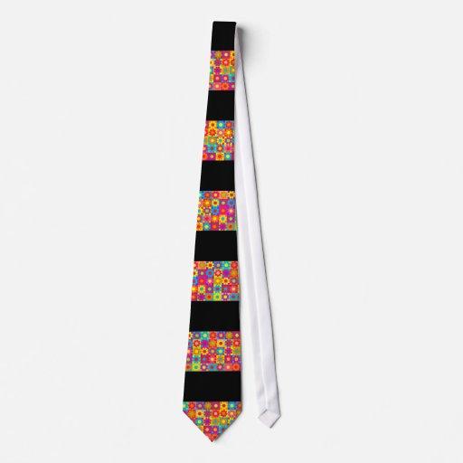 Flower power retro maravilloso corbatas