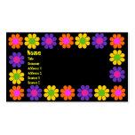 Flower power retro tarjetas de visita