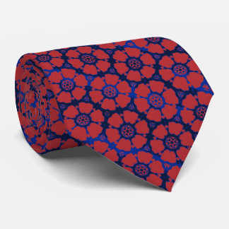 Flower Power Retro Two-sized Print Neck Tie