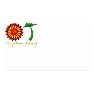 Flower power rojo tarjetas de negocios