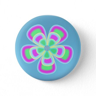 Flower power Round Button