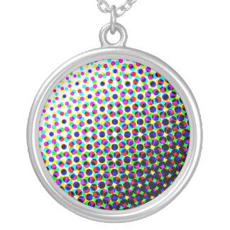 Flower Power Round Pendant Necklace