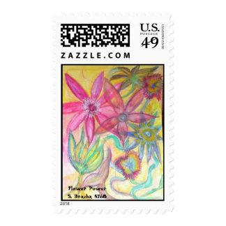Flower Power S. Bracha 5768 Postage Stamp