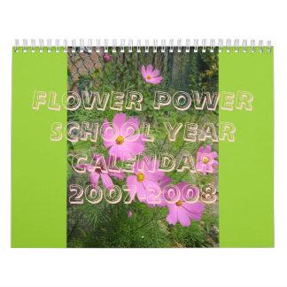 FLOWER POWER SCHOOL YEAR CALENDAR