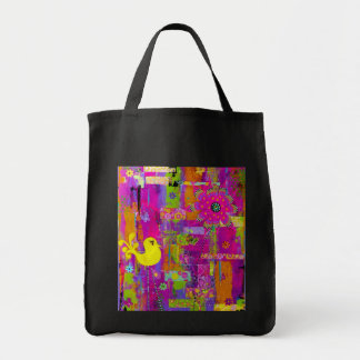 Flower Power Shopping Tote Grocery Tote Bag