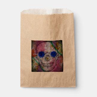 flower power skull favor bag