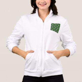 Flower Power Skulls in Festive Green Jacket