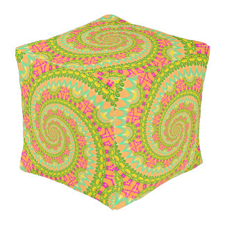 Flower Power Spiral SUNNY Outdoor Pouf
