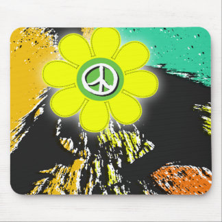 flower power splatter by gregory gallo mouse pad