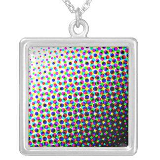 Flower Power Square Pendant Necklace