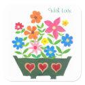 'Flower Power' Square Stickers sticker