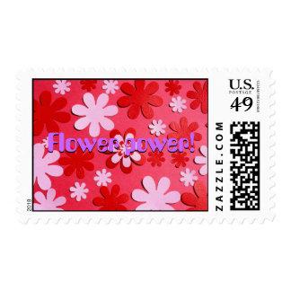 flower power stamp postage