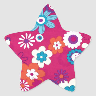 Flower Power Star Sticker