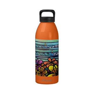 Flower Power Surf Water Bottle