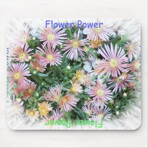 Flower power tapetes de raton