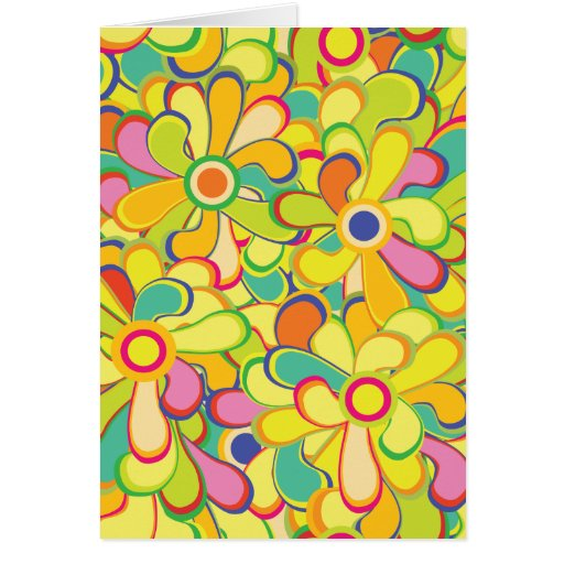 Flower power tarjeta de felicitación