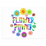 FLOWER POWER TARJETA POSTAL