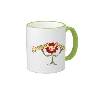 Flower power taza a dos colores