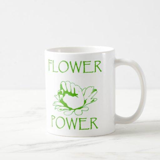 """""""Flower power """" Taza De Café"""