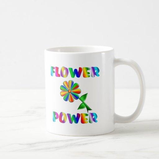 Flower power tazas de café