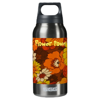 Flower Power Thermos Water Bottle