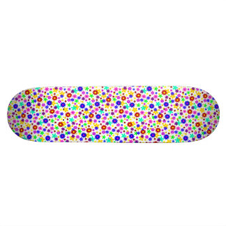 FLOWER POWER transparent (pick a background color) Skateboard