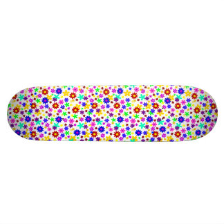 FLOWER POWER transparent (pick a background color) Skateboard Deck
