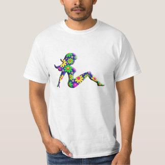 Flower Power Trucker Girl T-Shirt