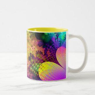 Flower Power Two-Tone Coffee Mug